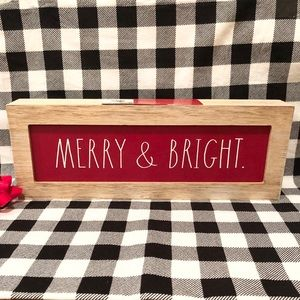 Rae Dunn Christmas MERRY & BRIGHT sign